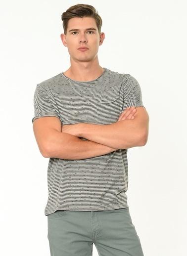 Lee Cooper Çizgili Tişört Gri
